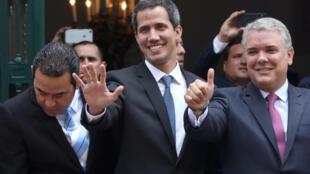 Yanzu haka dai Guaido ya isa birnin Caracas inda ya ke jagorantar gangamin adawa da shugaba Nicolas Maduro ba kuma tare gwamnati ta hukunta shi ba