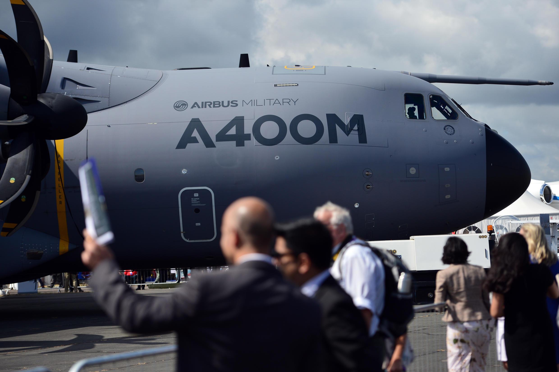 L'Airbus A400M avait déjà été critiqué par l'Allemagne et la Grande-Bretagne pour des défauts de qualité. Ici en présentation officielle en Grande-Bretagne le 15 juillet 2014.