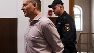 Филипп Дельпаль в Басманном суде 9 июля 2019 года