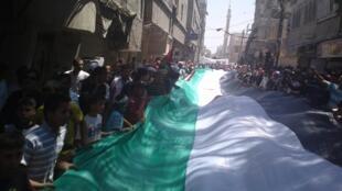 تظاهرات در خیابانهای دمشق پایتخت سوریه