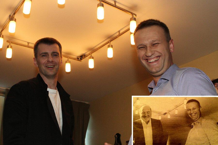 Оригинал фотографии Навального с Прохоровым, на основе которого был сфабрикован монтаж с Березовским