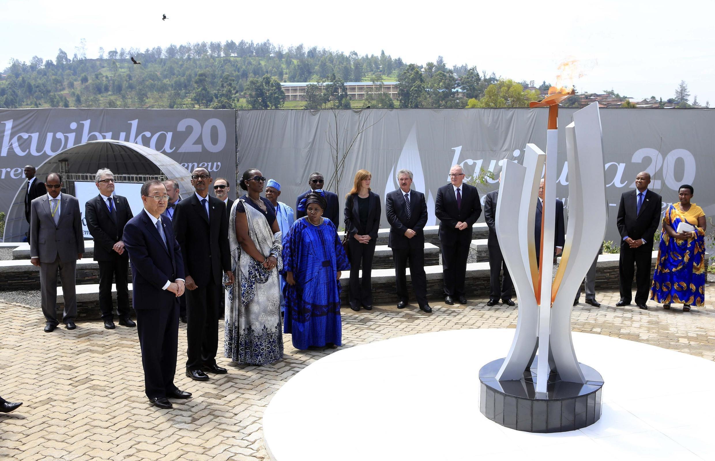 Открытие мемореала в Кигали в день 20-летия геноцида в Руанде 07/04/2014