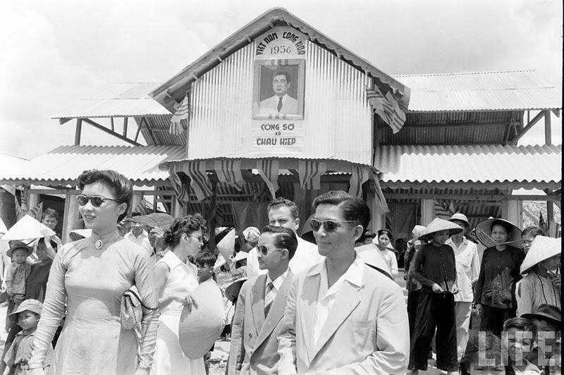 Ông và bà Ngô Đình Nhu, năm 1956 (DR).