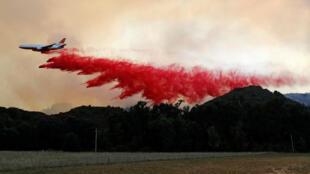 北加州蒙多西諾山火起於7月27日,火勢不斷擴大。攝於2018年8月2日