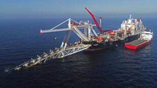 Ảnh tư liệu ngày 11/11/2018: Công trường trên biển Baltic thi công đường ống dẫn khí đốt Nord Stream 2 từ Nga sang Đức