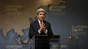 U.S. Secretary of State John Kerry speaks at Chatham House in London, Britain October 31, 2016.