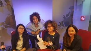 De g. à dr.: Elena Gabrielian, Refka Payssan, Emmanuelle Bastide, Paola Martinez Infante.