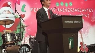 Miguel de Senna Fernandes, presidente da Associação dos macaenses, Macau: 10 de Dezembro de 2016
