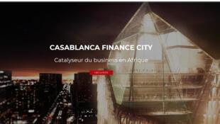 La page d'accueil du site Casa Finance city.