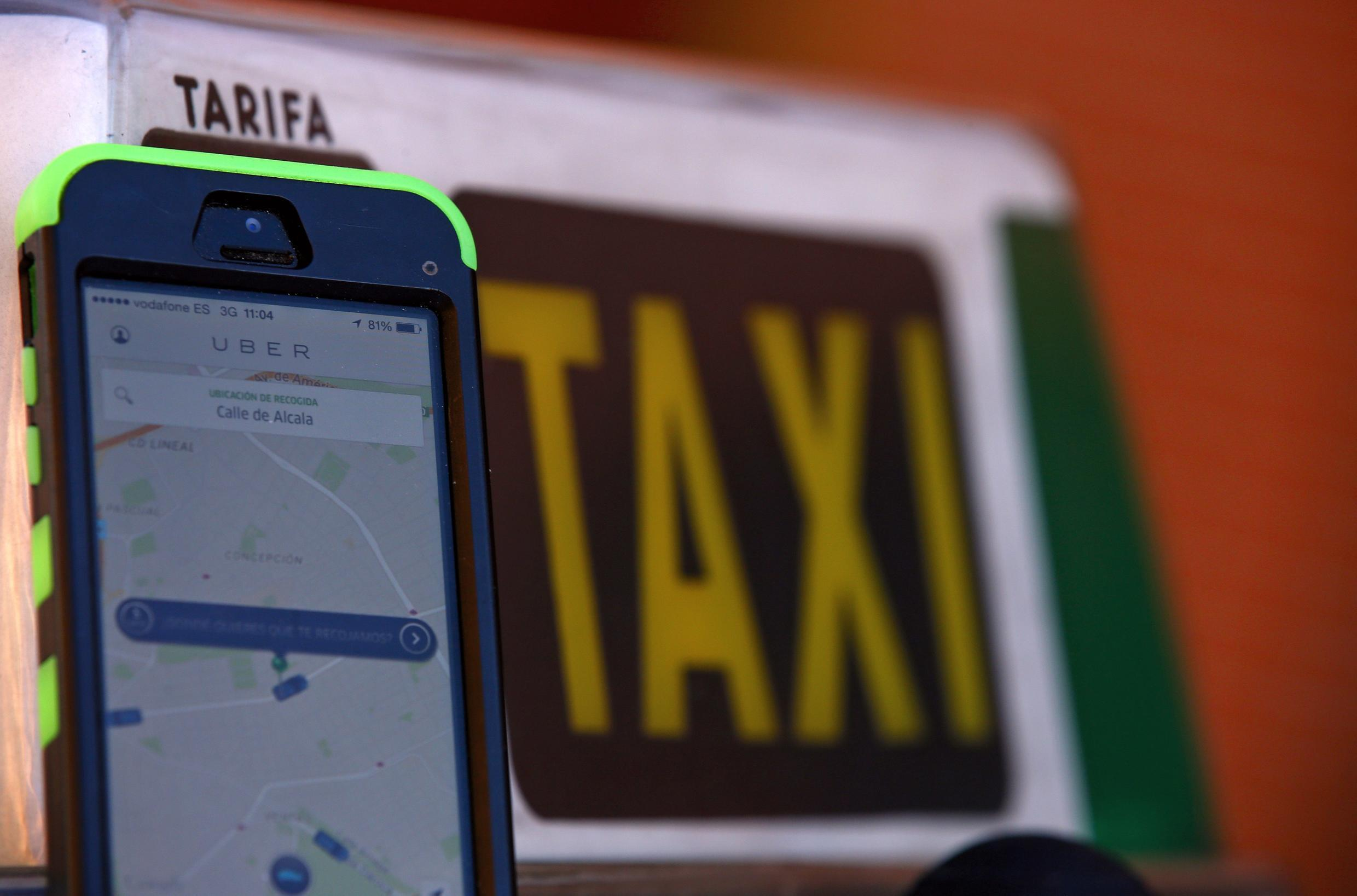 It was taxis v Uber in France Thursday