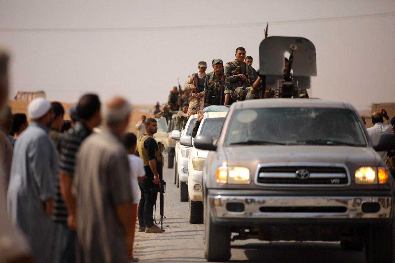 سربازان ارتش سوریه در شهر رأس العین