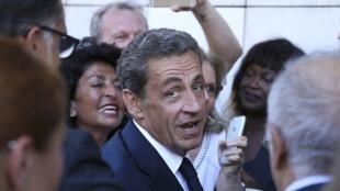 El expresidente francés y candidato a las primarias de la derecha, Nicolas Sarkozy.