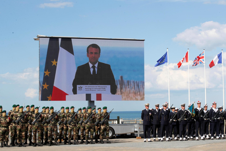 Церемония с честь французского подразделения капитана Кифера: 177 его бойцов были участниками высадки 6 июня 1944
