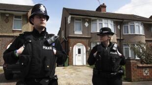 Le quartier de Bury Park, à Luton, où la police a procédé à cinq arrestations, le  24 avril 2012.