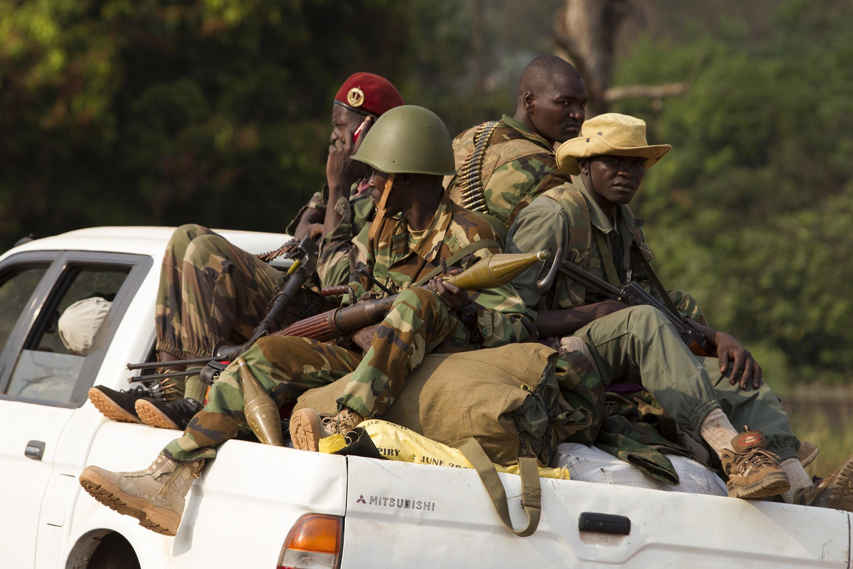 Séléka fighters in Bangui