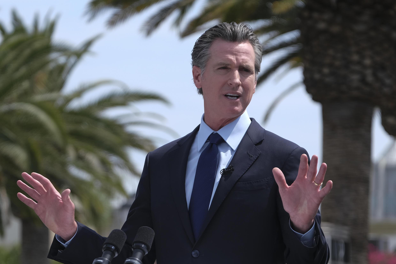 Le gouverneur de Californie Gavin Newson à Los Angeles le 15 juin 2021 (illustration)