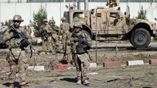 Hiện trường một vu khủng  bố tự sát ở Kabul ngày 16/09/ 2014.
