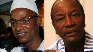 Cellou Dalein Diallo (G) et Alpha Condé (D), les deux candidats qualifiés pour le 2e tour de la présidentielle en Guinée.