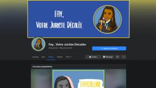 Capture d'écran de la page Facebook de «Fay, juriste décalée».