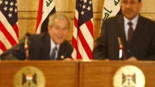 Georges W. Bush Bagdad