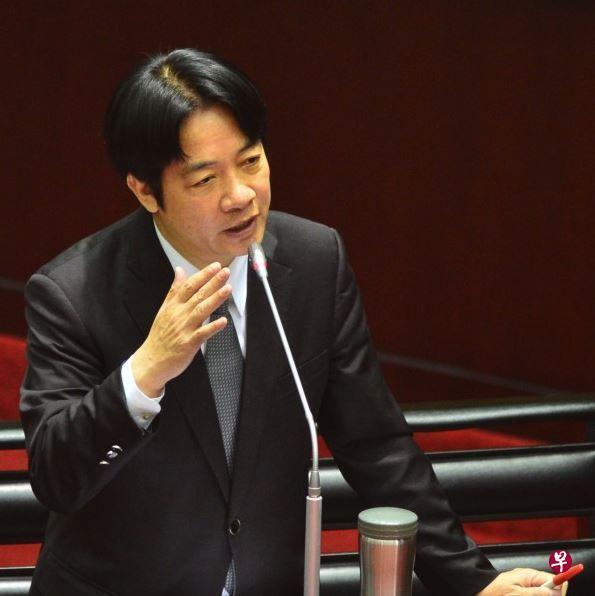 台湾行政院长赖清德在立法院做施政报告