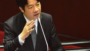 台灣行政院長賴清德在立法院做施政報告