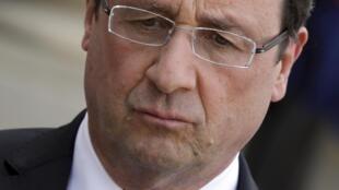 A popularidade do presidente François Hollande registrou uma forte queda desde o início do ano