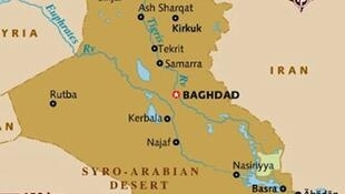 Ramani ya nchi ya Iraq