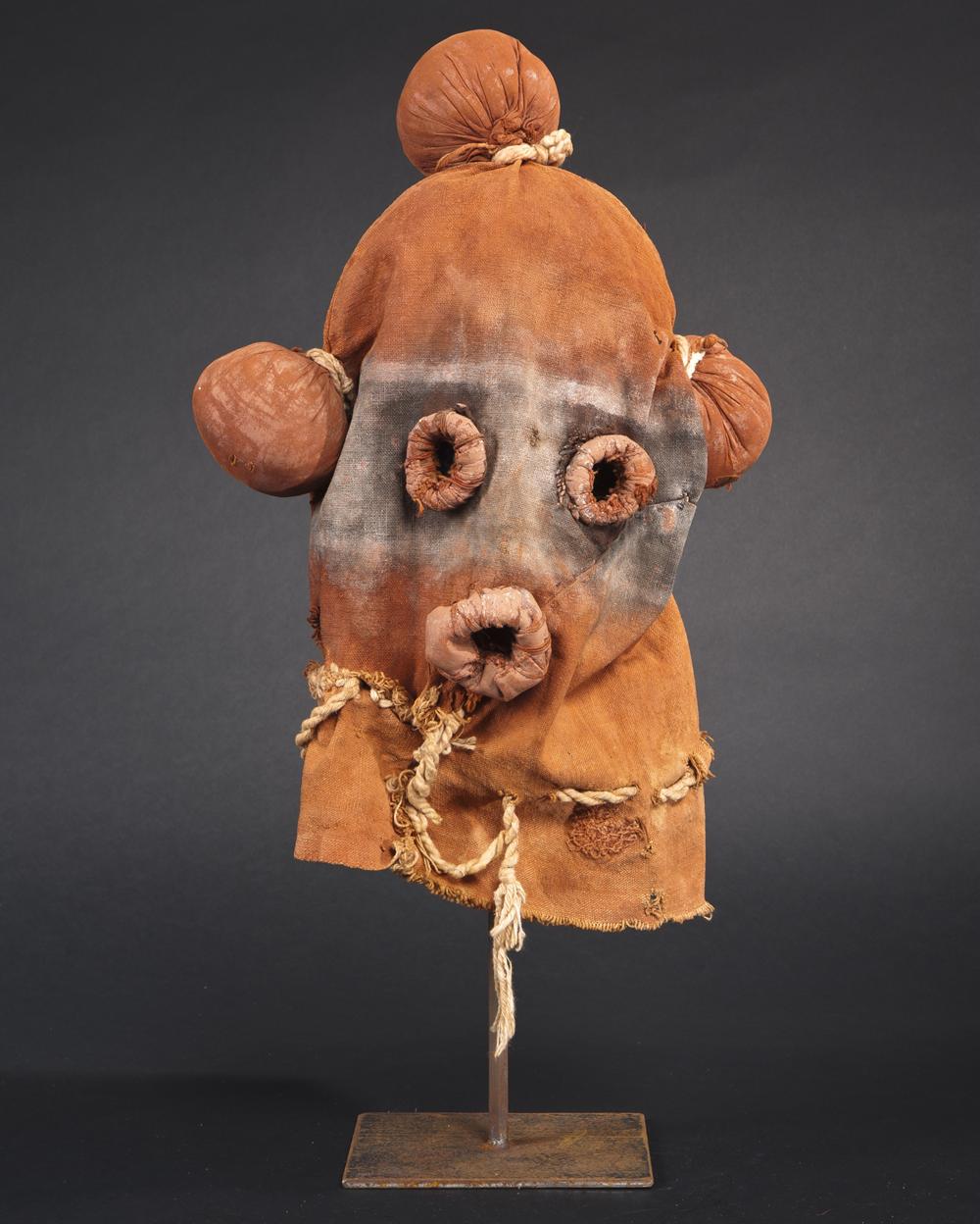 Koyemsi mask from the Hopi tribe, Arizona, 1920-1930.
