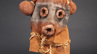 Koyemsi mask from the Hopi tribe, Arizona, 1920-1930