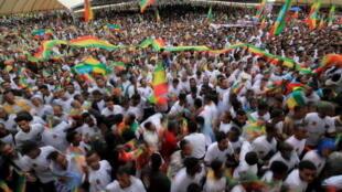 IMAGE Grand rassemblement patriotique ce mardi 27 juillet 2021 au matin dans la capitale éthiopienne Addis-Abeba.
