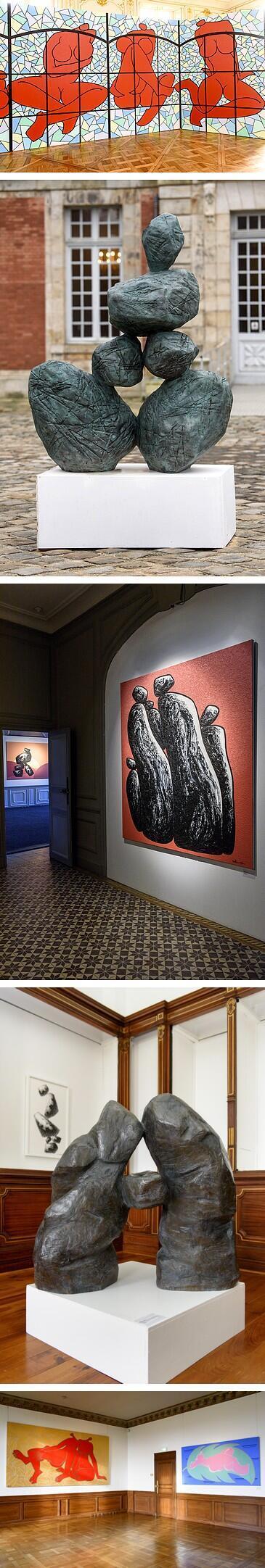 馬德升展出作品之一:彩繪玻璃