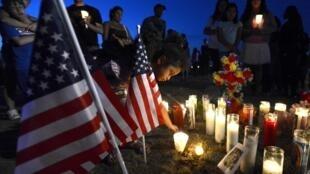The midnight vigil for the victims in Aurora, Colorado