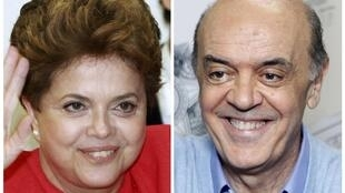 Dilma Rousseff y José Serra  finalistas en la elección presidencial en Brasil.