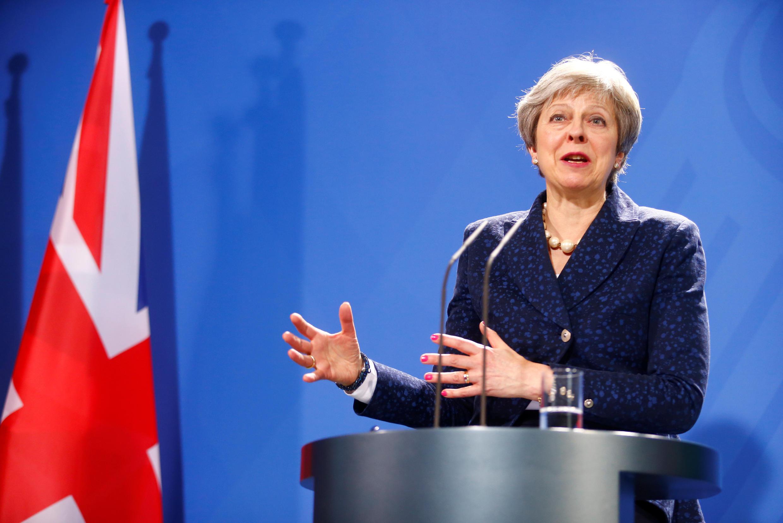Theresa May discursa na Conferência de Segurança de Munique.