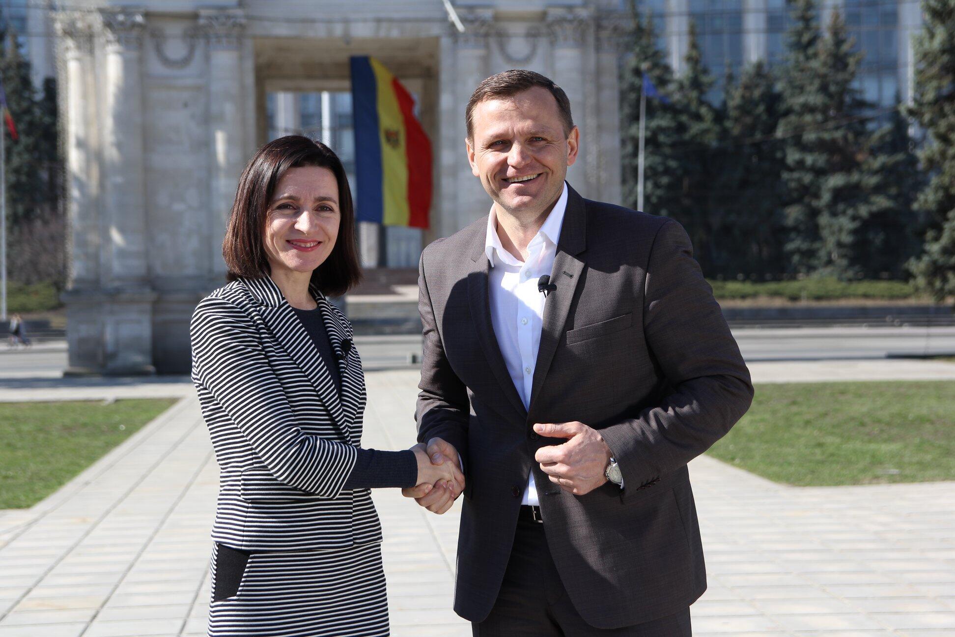 Кандидатуру Нэстасе на выборах мэра Кишинева поддержала второй попопулярности политик Молдовы, председатель партии «Действие исолидарность» Майя Санду