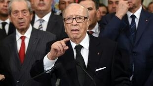 Rais wa Tunisia Beji Caid Essebsi, Novemba 25, 2015, Tunis.
