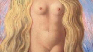 瑞士加納達基金會(Fondation Gianadda)基金會舉辦《肖像》,展出的一幅比利時超現實主義畫家雷內 瑪格利特(Rene Magritte1898年-1967年)在1945年畫的題為《褻瀆》(Le viol )。