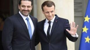 黎巴嫩已辭總理哈里里應法國總統邀請和家人到達巴黎 2017年11月18日