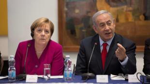 آنگلا مرکل صدراعظم آلمان و بنیامین نتانیاهو نخست وزیر اسرائیل