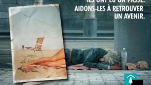 Fondation Abbé Pierre poster about homelessness