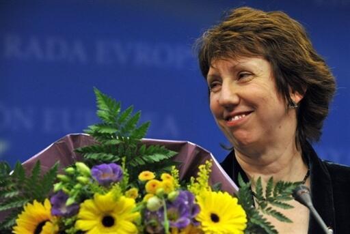 Catherine Ashton, ministre européenne des Affaires étrangères