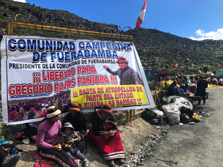 秘鲁当地原住民抗议领袖被捕资料图片