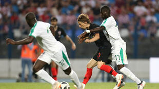 La Croatie de Luka Modric a été menée en amical par le Sénégal de Badou Ndiaye, mais elle a fini par retourner la situation et s'imposer le 8 juin 2018.