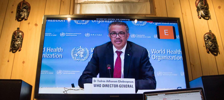 因應新冠病毒疫情,2020年世界衛生大會5月18日在日內瓦以視訊會議方式開幕。