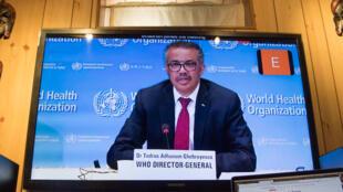 因应新冠病毒疫情,2020年世界卫生大会5月18日在日内瓦以视讯会议方式开幕。