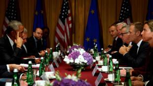 Los líderes de la OTAN reunidos en Varsovia, el 8 de julio de 2016.