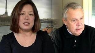 Os jornalistas Eric Laurent e Catherine Graciet