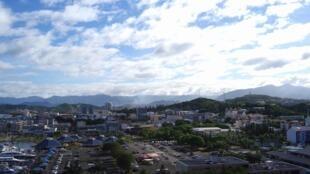 Une vue de la capitale de la Nouvelle-Calédonie, Noumé