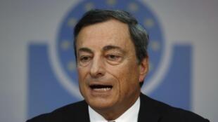 Le président de la Banque centrale européenne (BCE), Mario Draghi lors d'une conférence de presse à Francfort, le 4 septembre 2014.